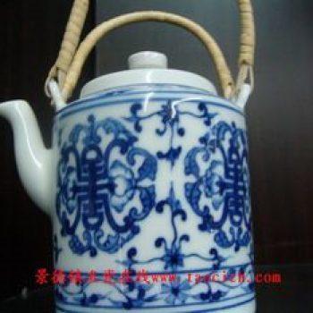 传统提梁壶系列青花缠枝