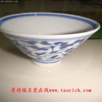 青花薄胎缠普洱小碗