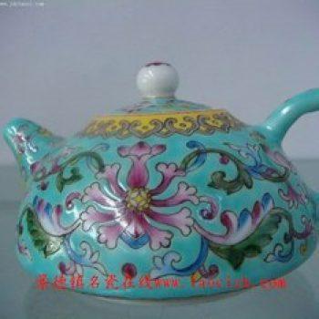 新款粉彩茶壶