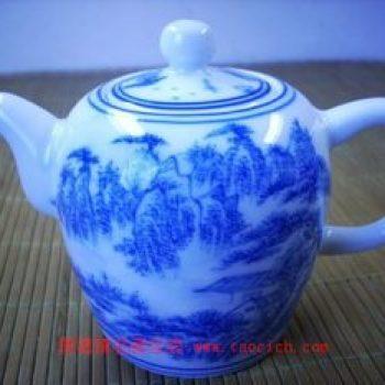 永春壶陈永春手绘山水青花 (小)茶壶