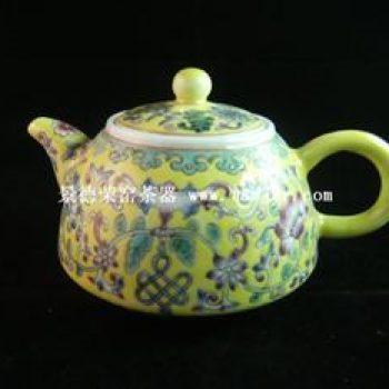 永春壶陈永春手绘仿古彩绘茶壶