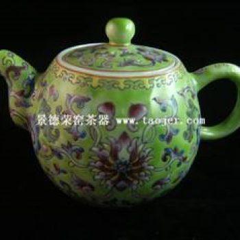 永春壶陈永春仿古彩绘茶壶