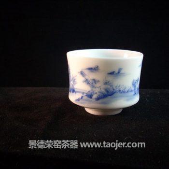 九段烧山水人物故事茶杯