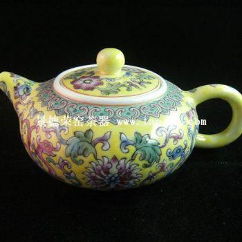 永春壶陈永春手绘仿彩绘茶壶
