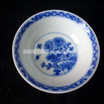 小雅款早期紫金釉蝶恋花茶杯