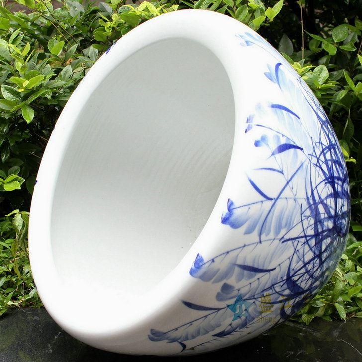 RYYY04景德镇陶瓷水缸 青花缸米缸鱼缸庭院摆饰花盆