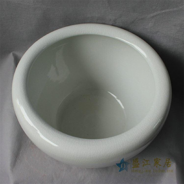 RZDE05景德镇陶瓷鱼缸开片裂纹缸水缸大缸水培花盆尺寸多样大中小