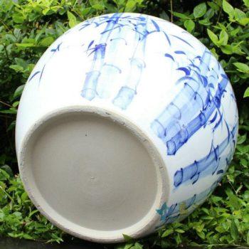 RYYY03景德镇陶瓷水缸竹报平安图案青花缸米缸鱼缸花盆