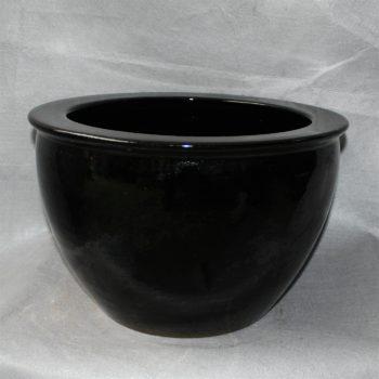 RZDE04景德镇精品陶颜色釉鱼缸大缸水缸黑色白色都有可做花盆水培