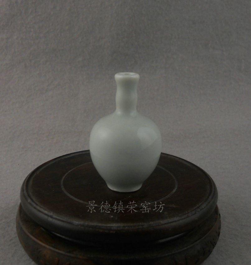 ZJBD20景德镇 精品 陶瓷 白釉 天球 鼻烟壶 小药罐