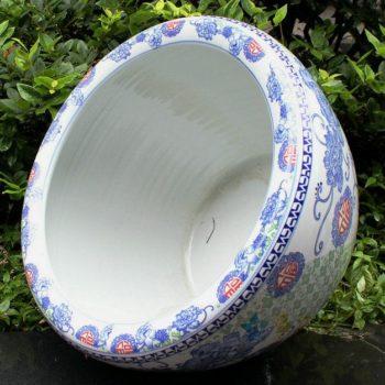 RYYY05景德镇陶瓷彩花花盆水缸鱼缸米缸福字大缸