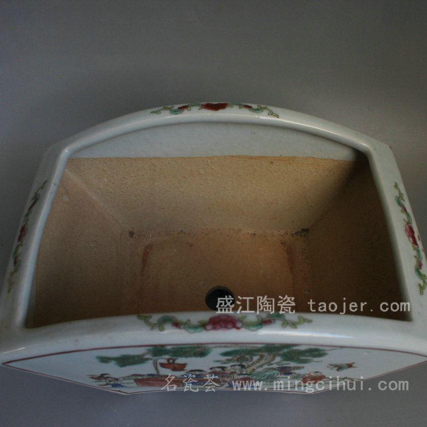 RYSZ13 景德镇精品陶 粉彩 覌园 花盆