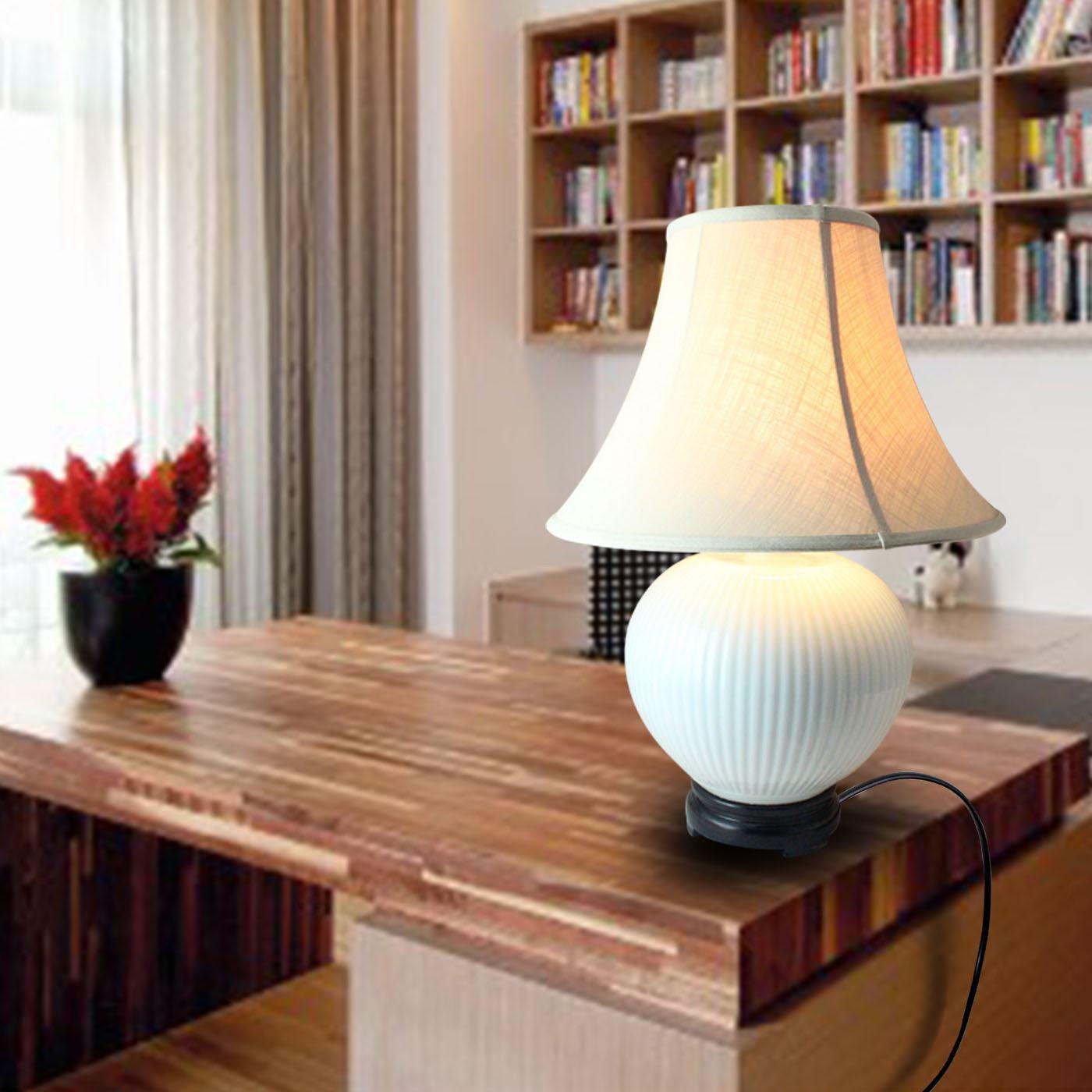 DSMA01景德镇 陶瓷 影清雕刻圆球 台灯 灯具 灯饰 家居摆设