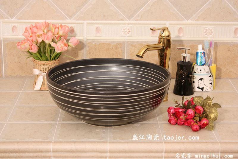 RYXW386景德镇 陶瓷 线圈 洗脸盆 家居工艺摆设