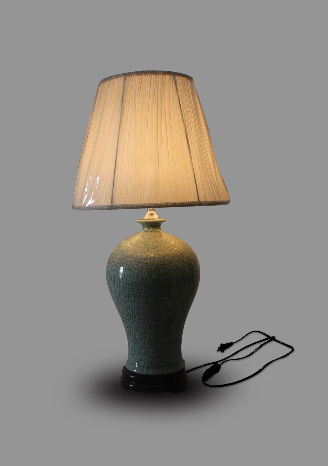 DSIF012景德镇 陶瓷 开片梅瓶 台灯 灯具 灯饰 家居摆设