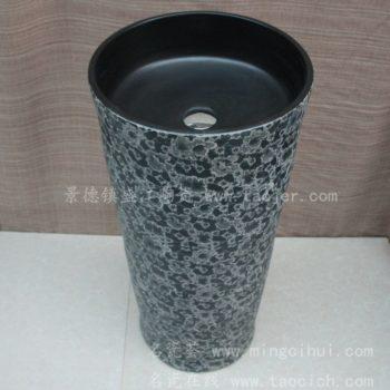 RYXW006景德镇 陶瓷颜色釉 一体式洗脸盆 家居工艺摆设