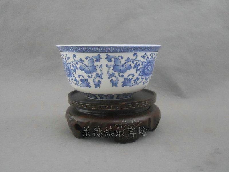 SJDI21骨质瓷骨质瓷青花缠枝碗 (10个一套)