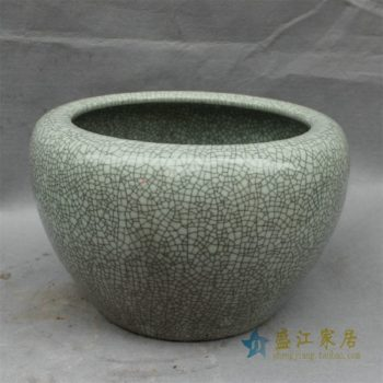 RYHD29景德镇精品陶瓷开片裂纹鱼缸大缸水缸花盆家居摆件