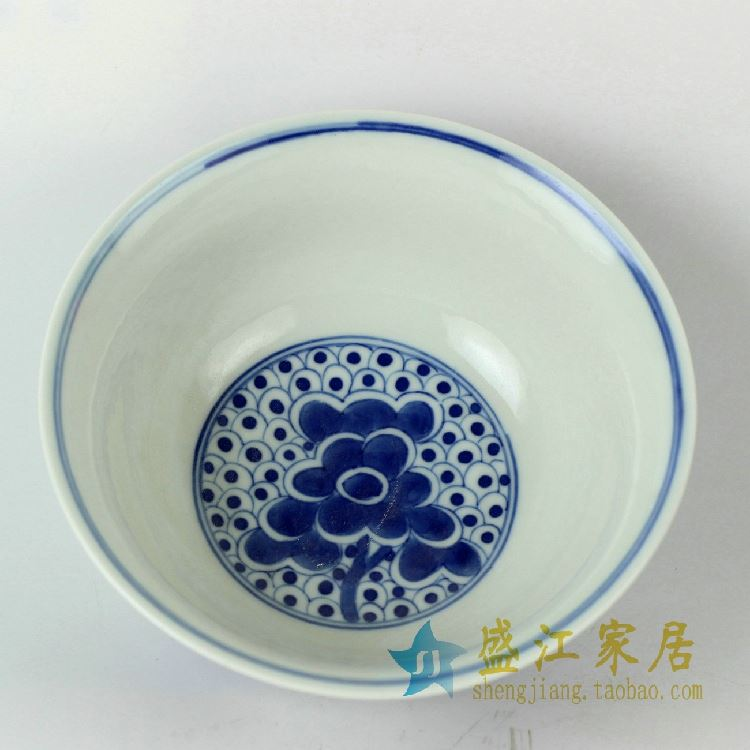 RZDC04景德镇精品手工陶瓷青花小碗手绘陶瓷碗吃饭碗厨房餐具