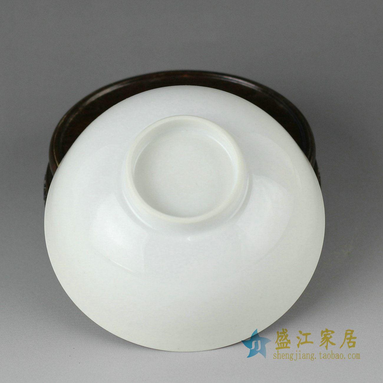 RZDG02景德镇精品陶瓷青花手绘碗吃饭完茶碗手工碗两款简单款