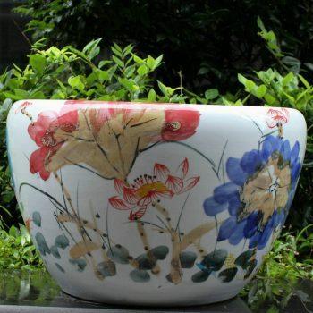 RYYY06景德镇陶瓷彩花缸荷花鱼水缸鱼缸米缸花盆