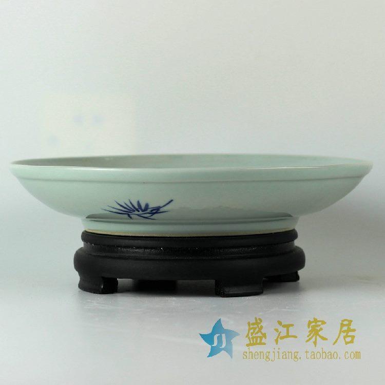 RZDC10景德镇精品陶瓷盘子手工手绘青花釉里红鱼盘餐盘菜盘碟子
