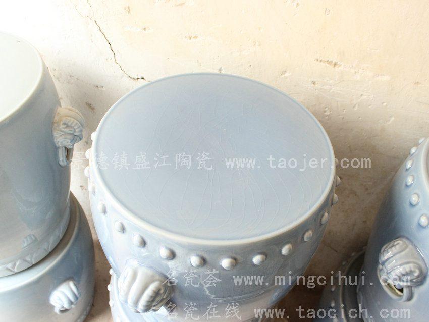 RYWC01景德镇 陶瓷 造型凳 狮子头 凳 瓷凳 工艺摆设