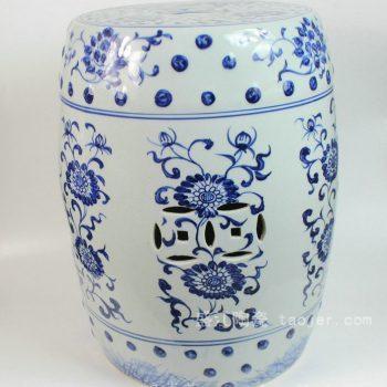RYLL21 景德镇陶瓷 手工陶瓷 青花缠枝 凳子 凉墩 墩子