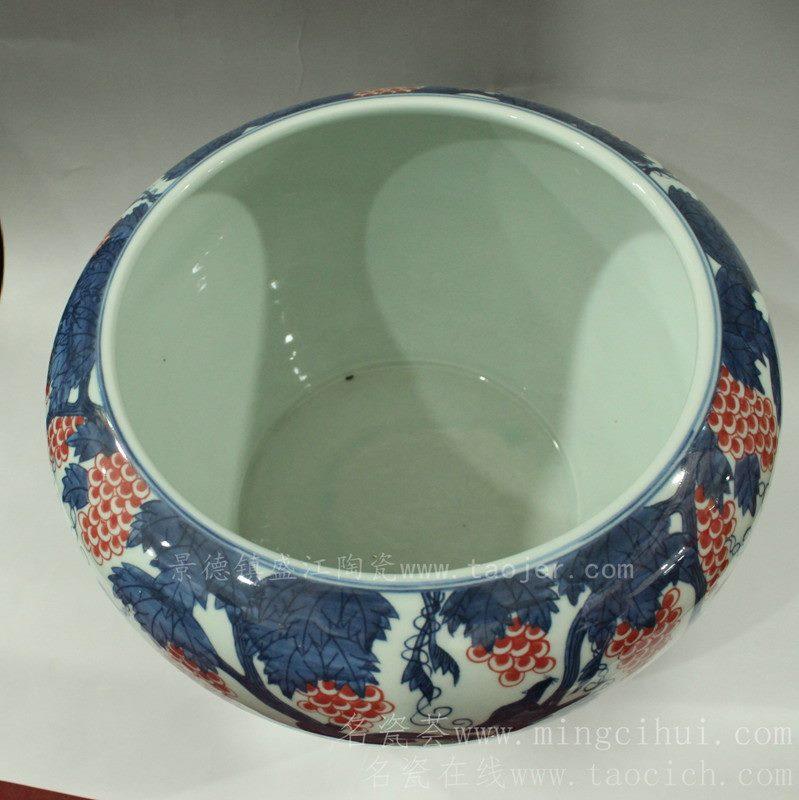 RYJN10景德镇 陶瓷 仿古 果子树 盆 鱼缸 工艺摆设