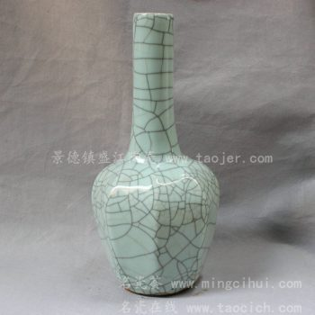 RYXC1  哥窑仿古金丝铁线花瓶