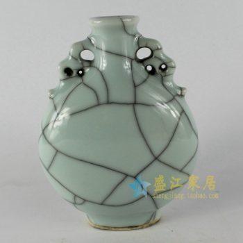RYXC18  裂纹釉开片花瓶 花插 工艺装饰小摆件