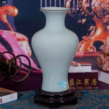 RZCV02 h31w17k12j530颜色釉金边口花瓶 花插