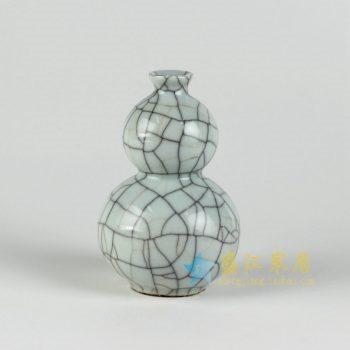 RYXC18-c 裂纹釉开片葫芦瓶 小花瓶 花插 工艺装饰摆件