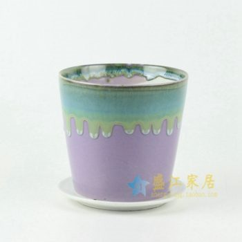 RYYF18-2 陶艺流口釉花盆 花缸 花缽