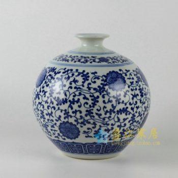 RZEC01 花缠枝花卉球瓶 花瓶 花插