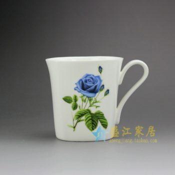 RYDY25-C 手绘粉彩玫瑰花茶杯 品茗杯 咖啡杯