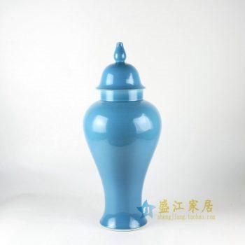 RYKB112手工颜色釉将军罐 盖罐 储物罐