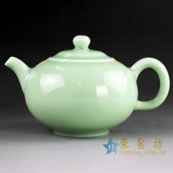 14CS43 手工颜色釉茶壶 手柄泡茶壶
