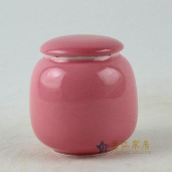 RZDT05 手工颜色釉红色茶叶罐 盖罐 密封罐