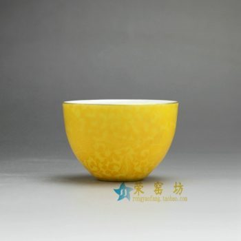 RZDD08-B 手工扒花茶杯 品茗杯 功夫茶具