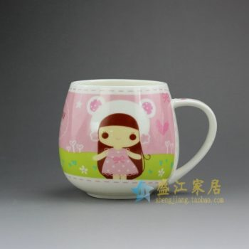 RYDY30-B 手绘粉彩卡通女孩像茶杯 品茗杯 咖啡杯