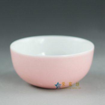 14FS36颜色釉白色茶杯 茶碗 品茗杯