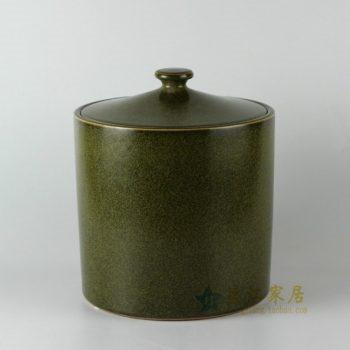 RZDM01手工仿古茶叶末釉盖罐 储物罐