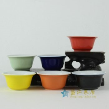 RYFS35 手工颜色釉多款茶杯 品茗杯 功夫茶