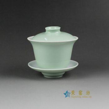 14FS23颜色釉盖碗 三才碗 泡茶杯