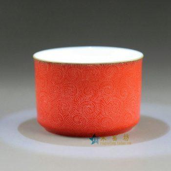 RYHV17 4159 1手工扒花茶杯 品茗杯