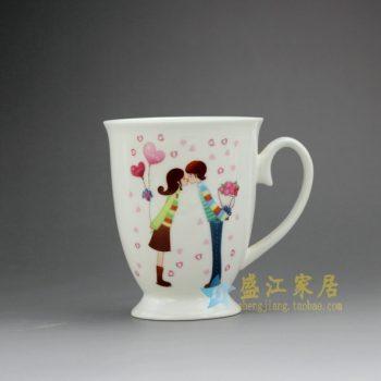 RYDY27-A 手绘粉彩现代浪漫情侣画茶杯 品茗杯 咖啡杯