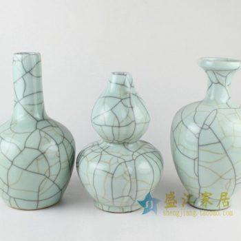 RYXC32 1325手工三款裂纹釉花瓶 花插