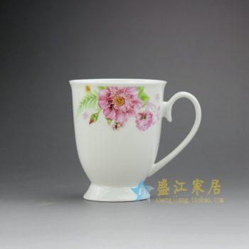 RYDY27-B 手绘粉彩花卉图茶杯 品茗杯