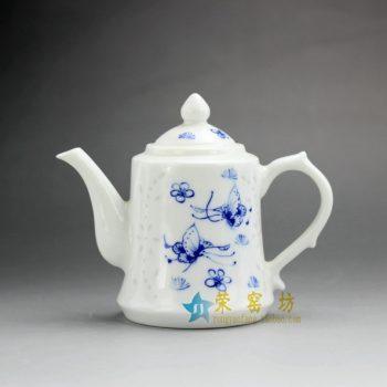 RZEP03 手绘青花蝴蝶纷飞图茶壶 泡茶壶